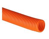 ДКС Труба ПНД гибкая гофр. д.50мм, лёгкая с протяжкой, 15м, цвет оранжевый