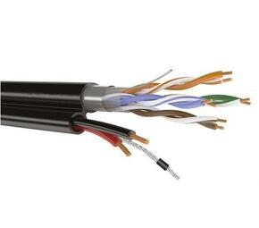 SyncWire FTP 4PR 24AWG CAT5e+2х0.75 с тросом Outdoor Кабель