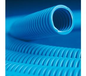 ДКС Труба ППЛ гибкая гофр. д.16мм, лёгкая с протяжкой, 100м, цвет синий
